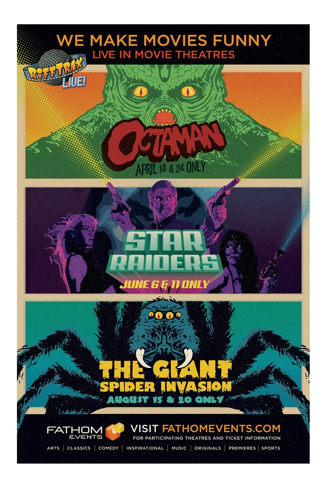 RiffTrax Live 2019 poster - $125+ (get it SIGNED by Mike, Kevin and Bill at $200)
