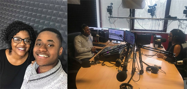 Radio interview on RAEC Le Main Event with young presenter Ézéchiel Johnstone-Mayima about #AirsAboutHair and more at Radio Arc-en-Ciel (90.7 FM) in Strasbourg (France)