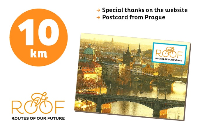 With 10 euros you will support 10 of our 8.000 km route.