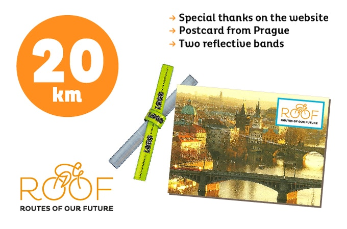 With 20 euros you will support 20 of our 8.000 km route.