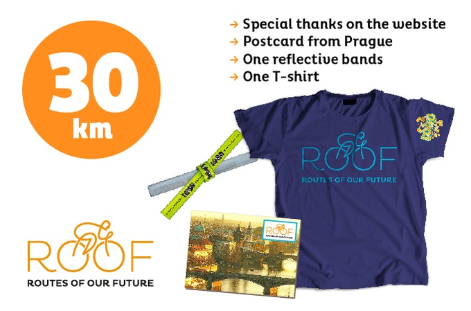With 30 euros you will support 30 of our 8.000 km route.