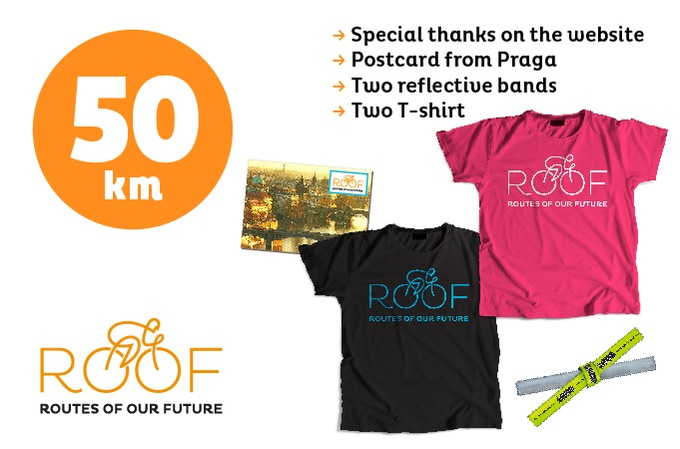With 50 euros you will support 50 of our 8.000 km route.
