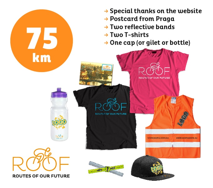 With 75 euros you will support 75 of our 8.000 km route.
