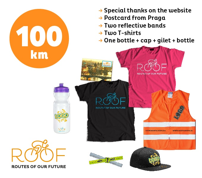 With 100 euros you will support 100 of our 8.000 km route.