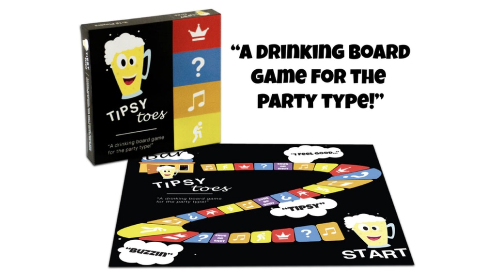 Project image for Tipsy Toes: A Drinking Board Game
