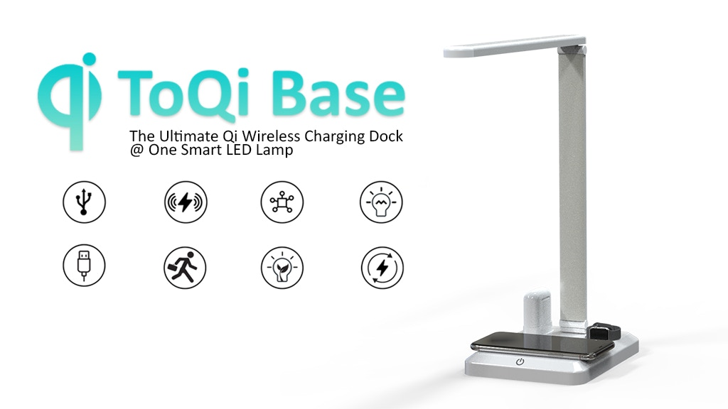 ToQi Base: 2-in-1 Wireless Power Station &Desk Lamp
