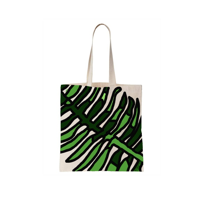 A Screen printed bag so we can reduce the use of single use plastic in the process.