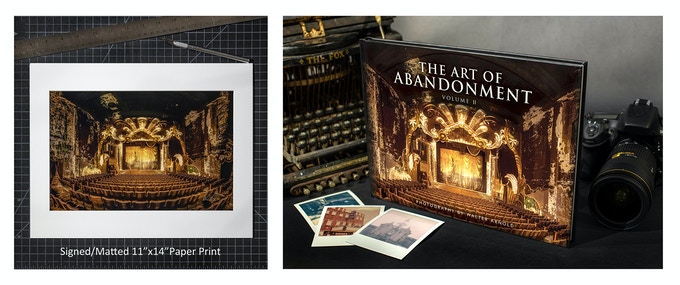 "11""x14"" matted print and book bundle"