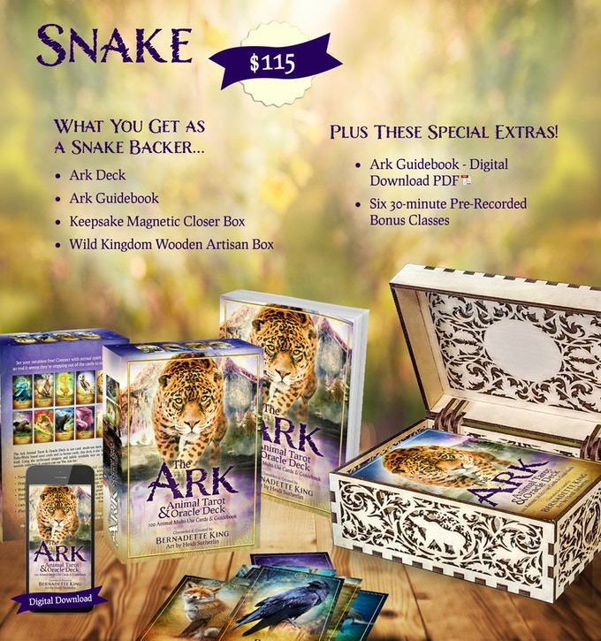 The Ark Animal Tarot & Oracle Deck by Bernadette King