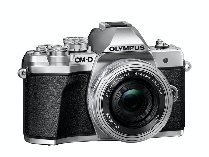 Olympus OMD E-M10 Mark III Camera body with Ultra-slim M.Zuiko Digital ED 14-42mm EZ pancake zoom lens