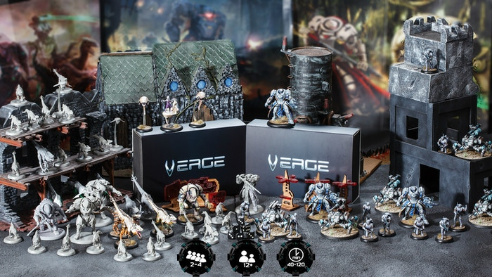 Verge Of War  Sci-Fi wargame with 28mm resin miniatures set in the original Verge Of War Universe Late Pledge available until February 15.2019.
