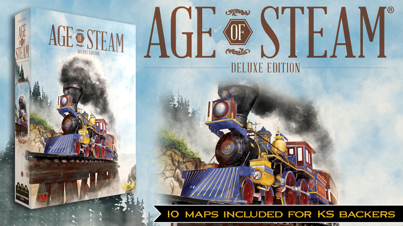 A completely re-envisioned, artistically-rejuvenated deluxe edition of the  classic railroad game!