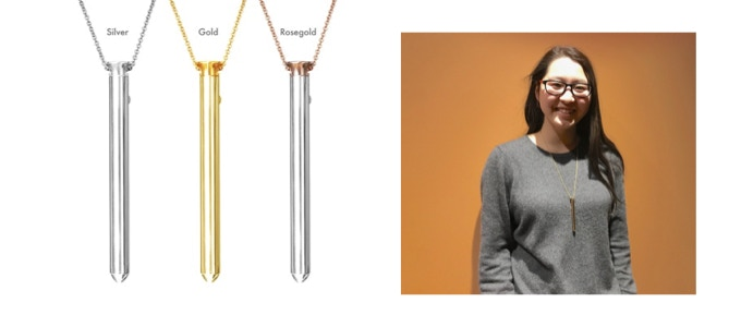 $250 Reward Level - Vesper Vibrator Jewelry from Crave - available in Silver, Gold or Rosegold! www.lovecrave.com | Team Member Stephanie wearing her Vesper!