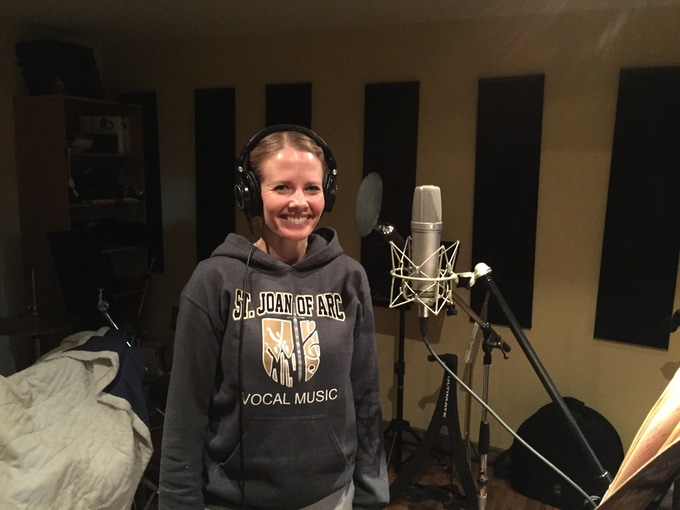 """Laying the first tracks to my new song """"As the Snow!"""""""