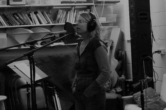 Kristina in the studio at Shab Row.