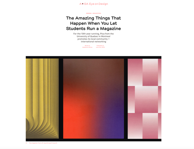 Article dans le magazine AIGA Eye On Design / Article in AIGA Eye On Design