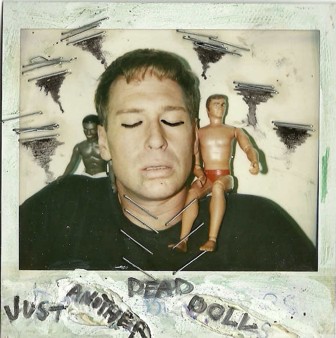 Hand-manipulated Polaroid from 1994 by Scott Thompson and Paul Bellini