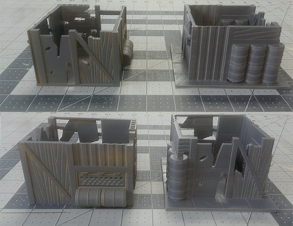 a couple of shacks out of the PostApocalyptic Shacks playset