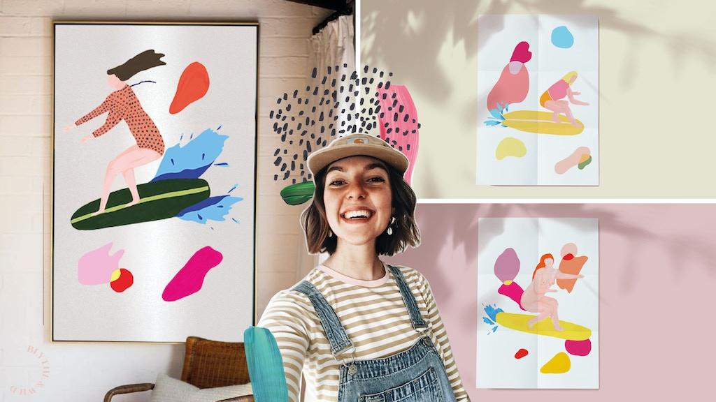 QUICKSTARTER: Celebrating diverse women surfing through art project video thumbnail