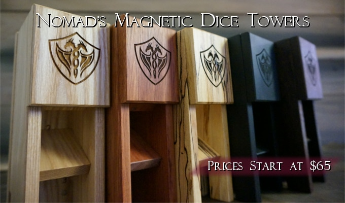 Nomad's Magnetic Dice Towers