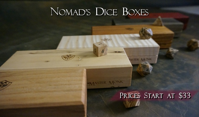 Nomad's Dice Boxes