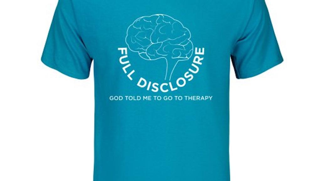 Full Disclosure Tshirts: raising awareness for mental health project video thumbnail