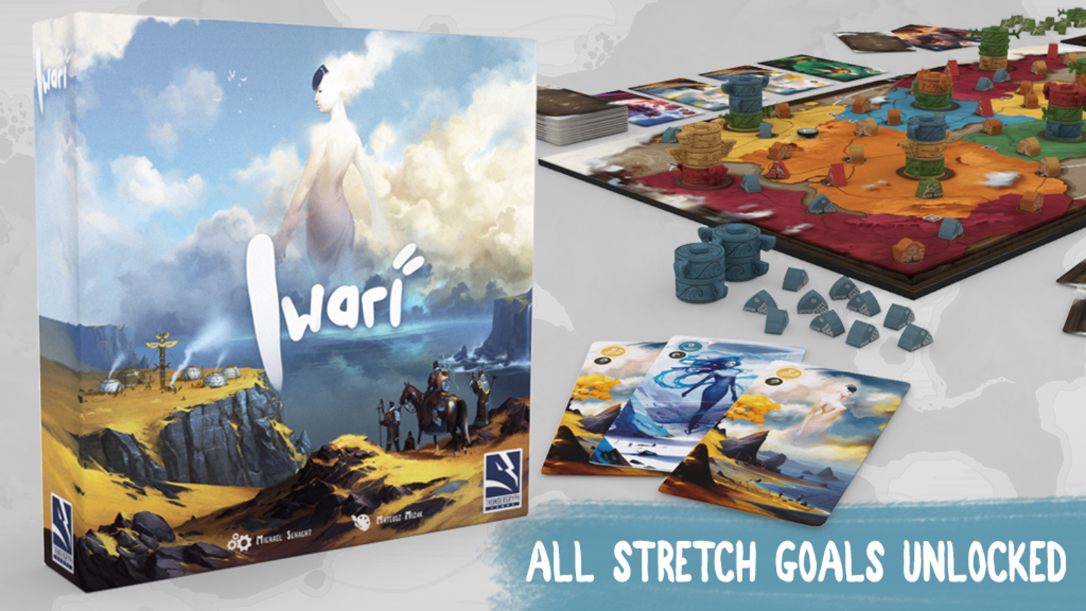 An abstract-like game where players represent different tribes; traveling and expanding settlements in a strategy game of majorities.