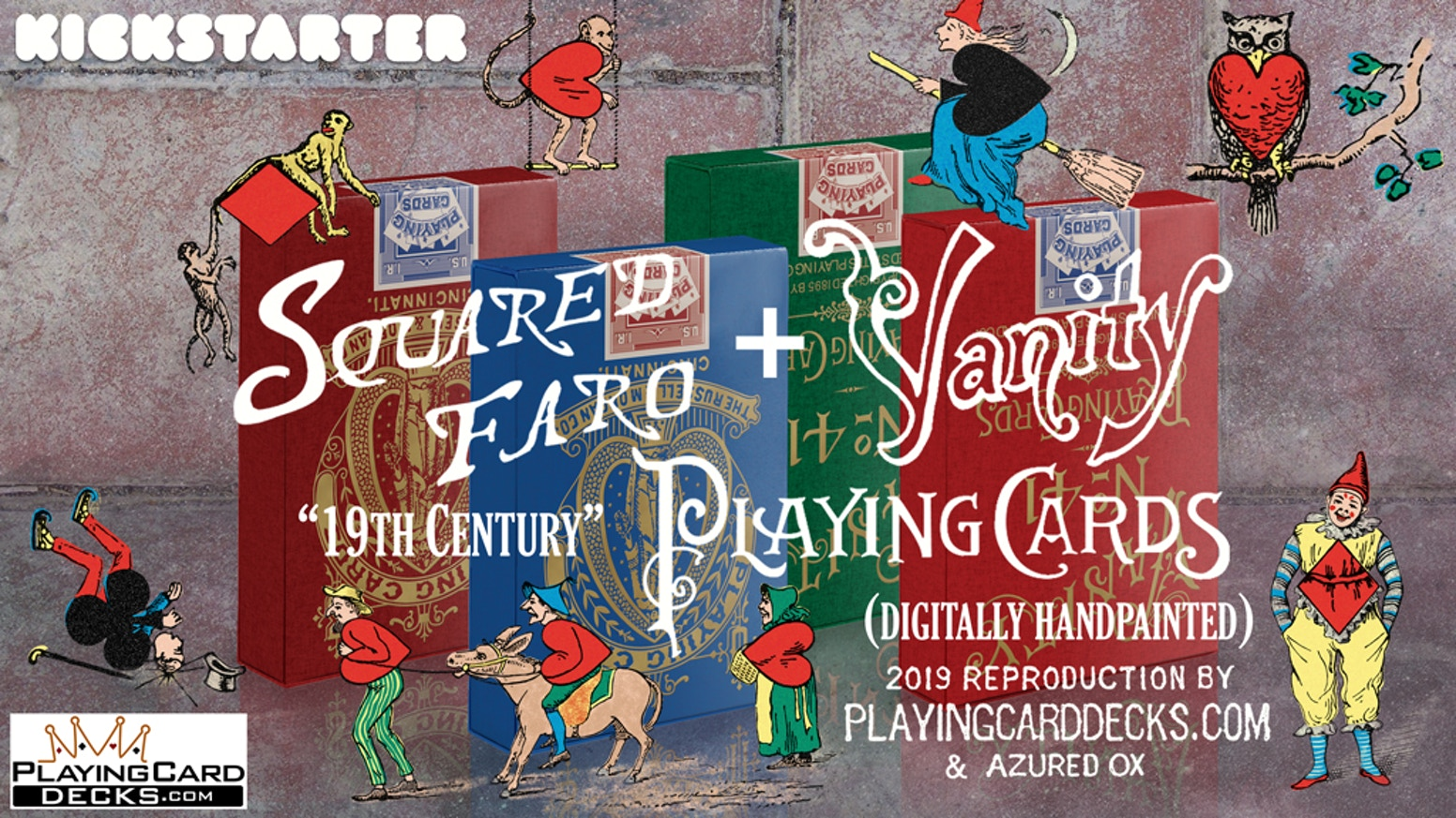 Limited Edition Sets Printed By USPCC - Art Has Been Digitally Hand Painted From Scratch Based On The Original Decks