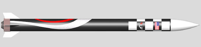 Figure 2 - United Frontier Discovery X1A  rocket (CAD) launching Q4 2019. Click image for website.