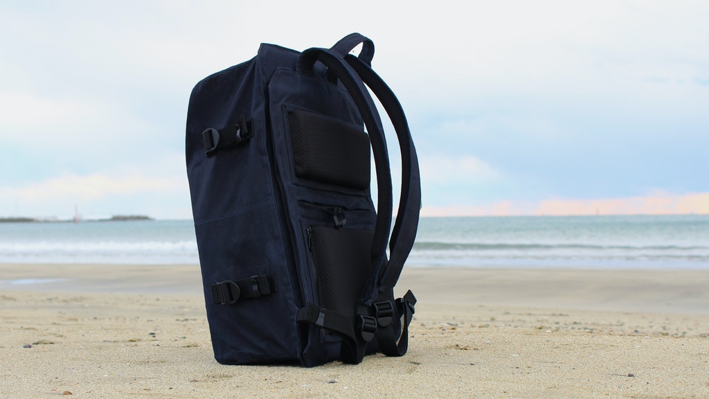 STORIO - A canvas waterproof, anti-theft backpack project video thumbnail