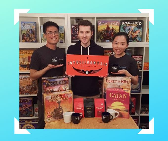 We have partnered with Intelligensia to bring you the perfect paring, coffee and board games!