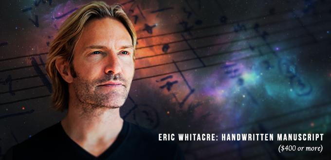 Eric Whitacre: Signed Handwritten Manuscript