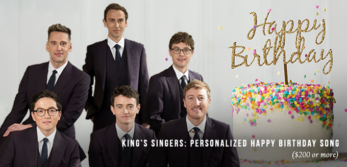 King's Singers: Personalized Happy Birthday