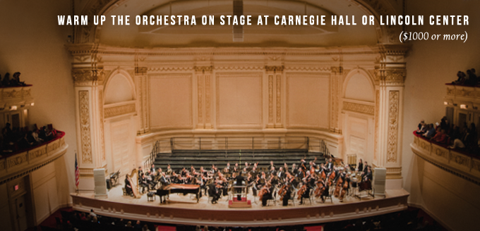 Conduct on Stage at Carnegie Hall or Lincoln Center