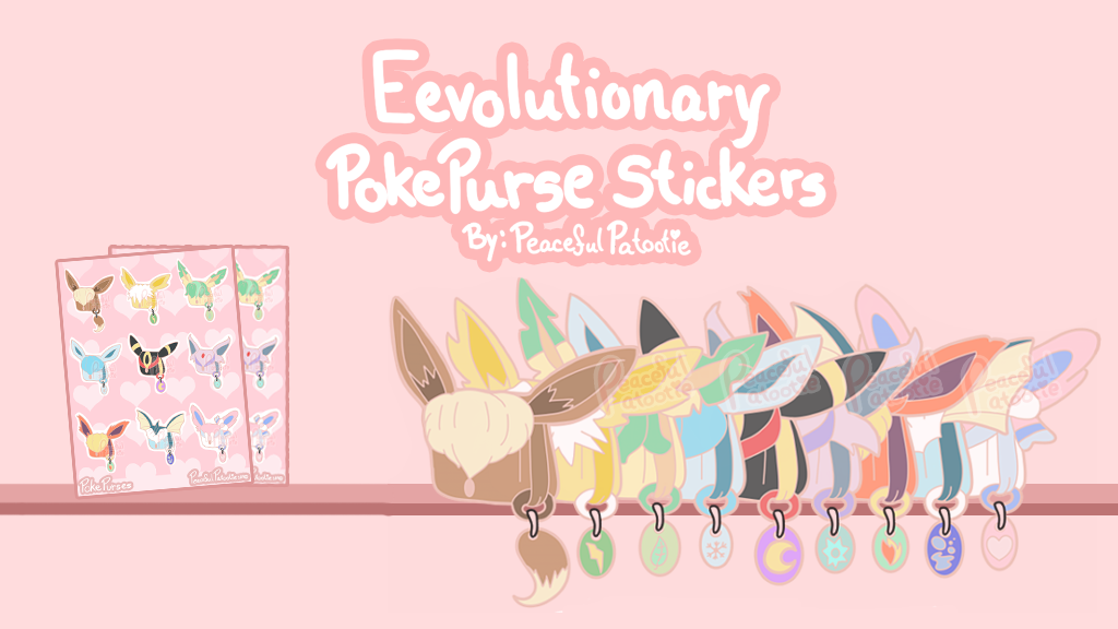 Project image for Eevolution PokePurse Sticker Sheet