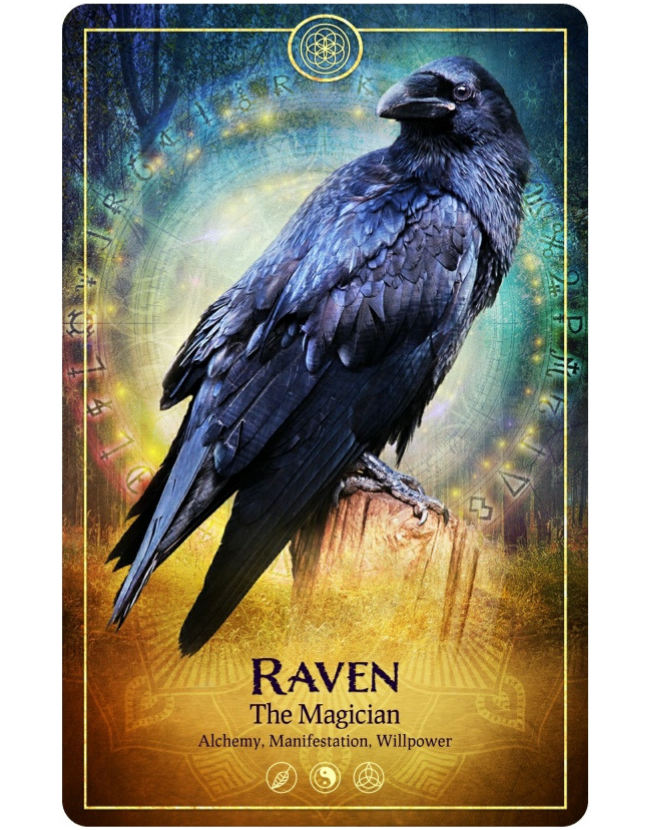 The Magician Tarot Card from The Ark Animal Tarot & Oracle Deck