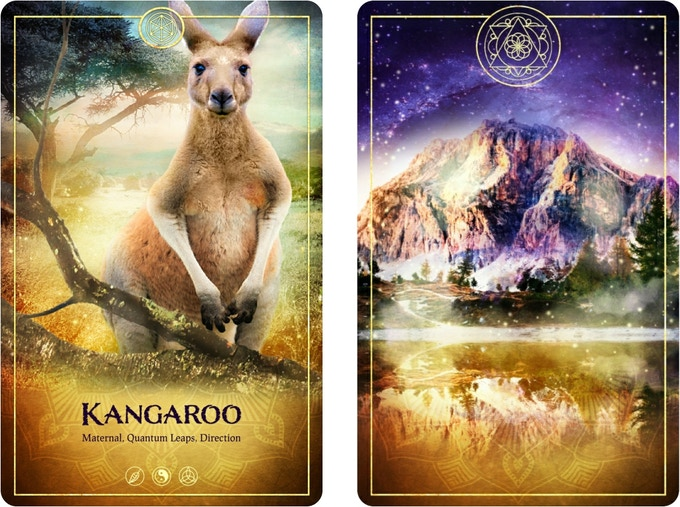 The Kangaroo from The Ark Animal Tarot & Oracle Card Deck