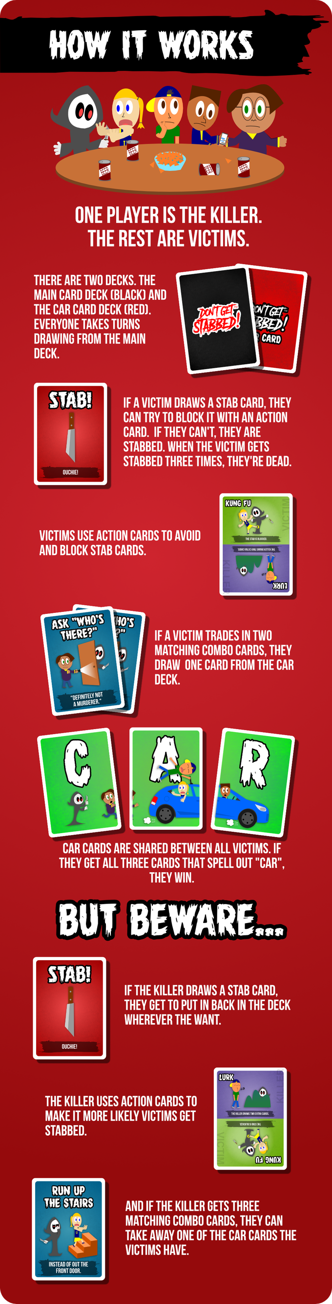 DON'T GET STABBED! The Card Game by Rookie Mage Games