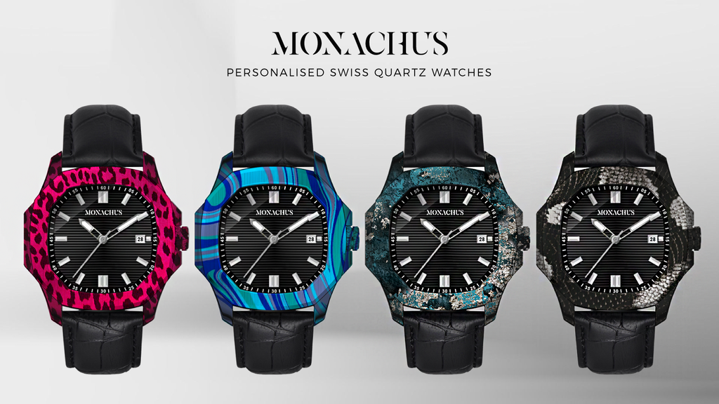 Project image for MONACHUS: Personalised Hydro Dipped Swiss Quartz Watches (Canceled)