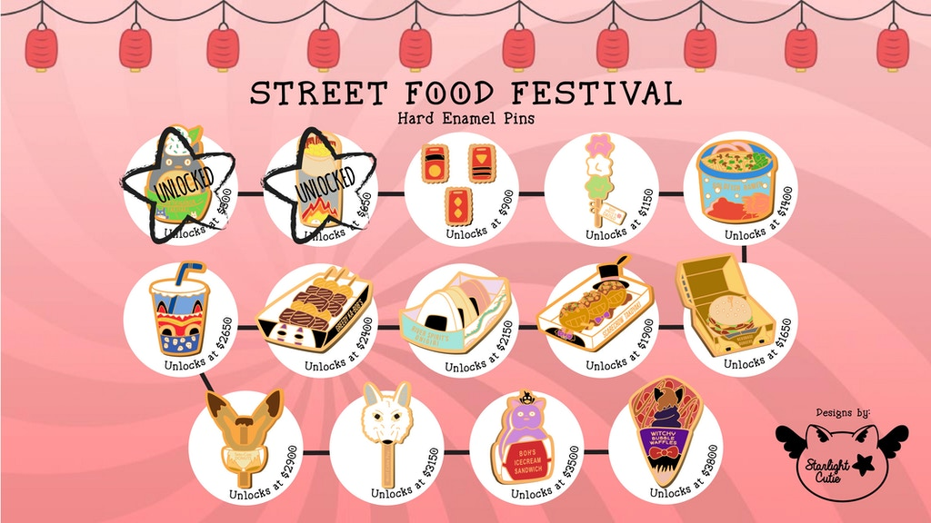 Project image for Street Food Festival Hard Enamel Pins (Canceled)
