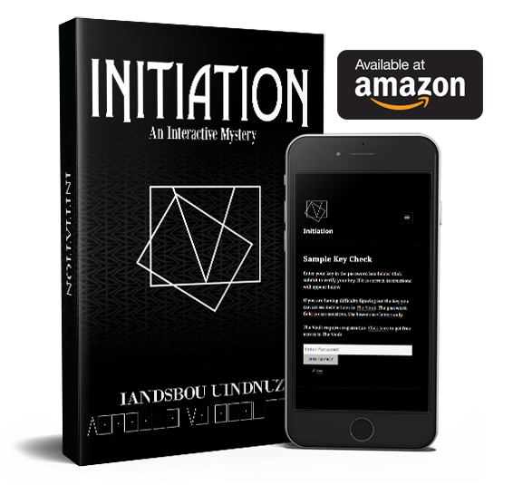Initiation is an interactive adventure book featuring over 130 puzzles, a companion website with secret clues, and a mystery to solve.