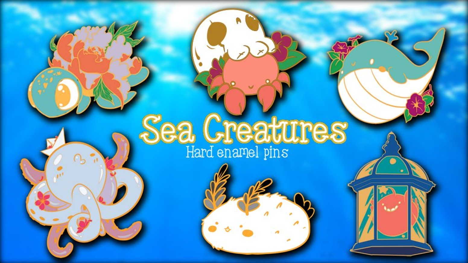 Sea Creatures is a project with cute enamel pins design inspired by the under sea life! If you miss the campain, you can find now the pin's on my etsy!