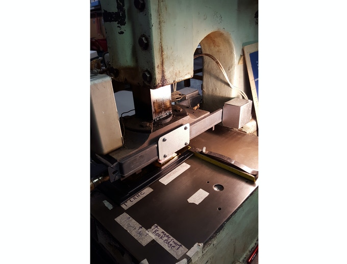 The press used for stamping and embossing