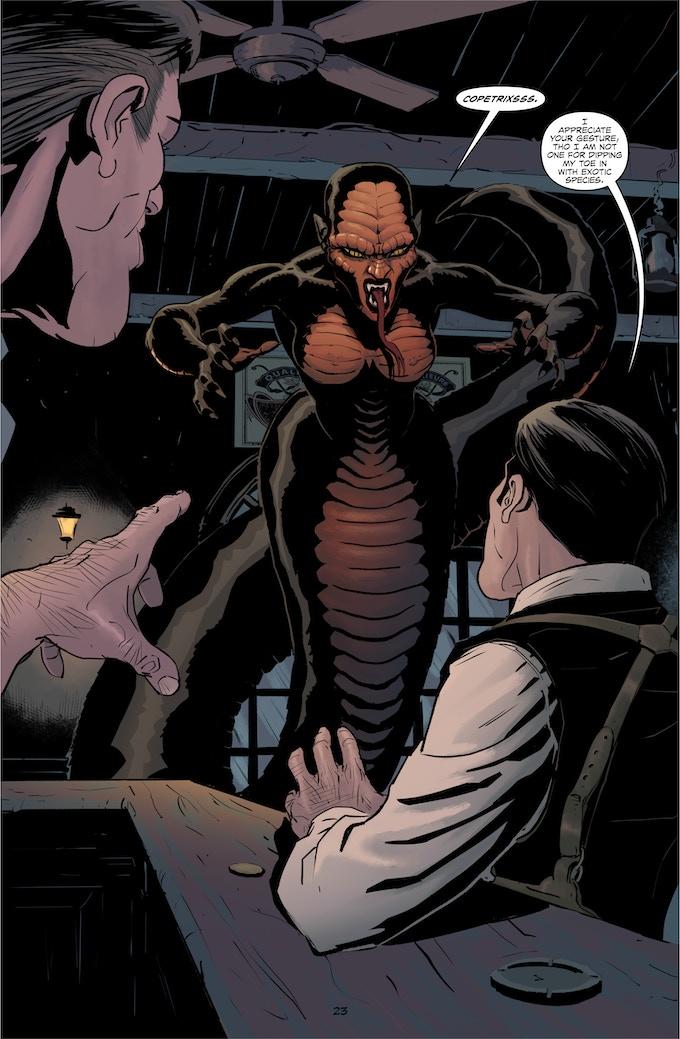 """I think Ms. Copetrix's sinewy presence unnerved the big lug."" ~ Lovecraft"