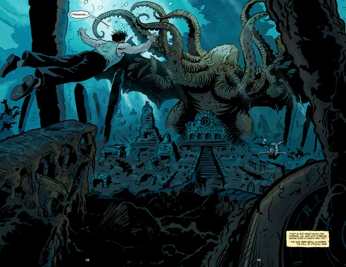 """In his house at R'lyeh dead Cthulhu waits dreaming."" ~ Lovecraft"