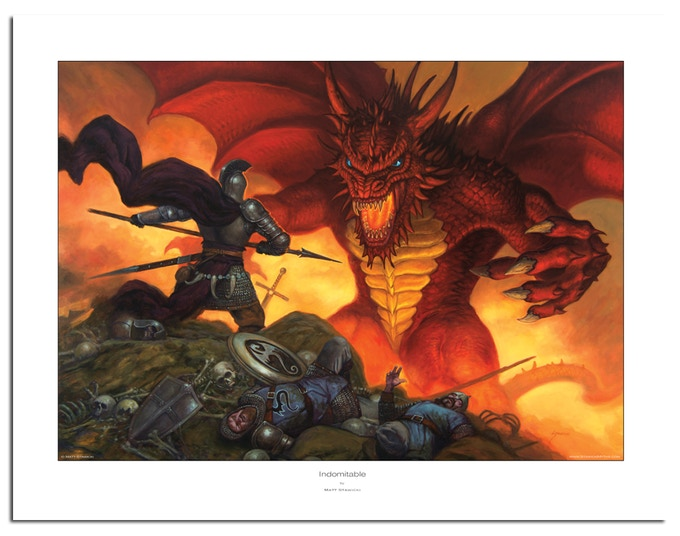 Large 22x17 inches Indomitable Limited Edition Studio Print