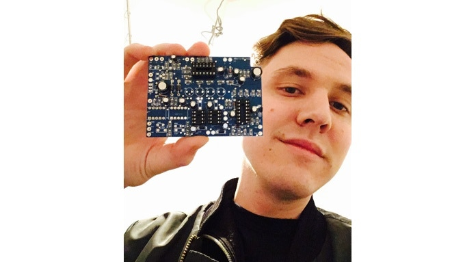 David with his first series PCB in 2017
