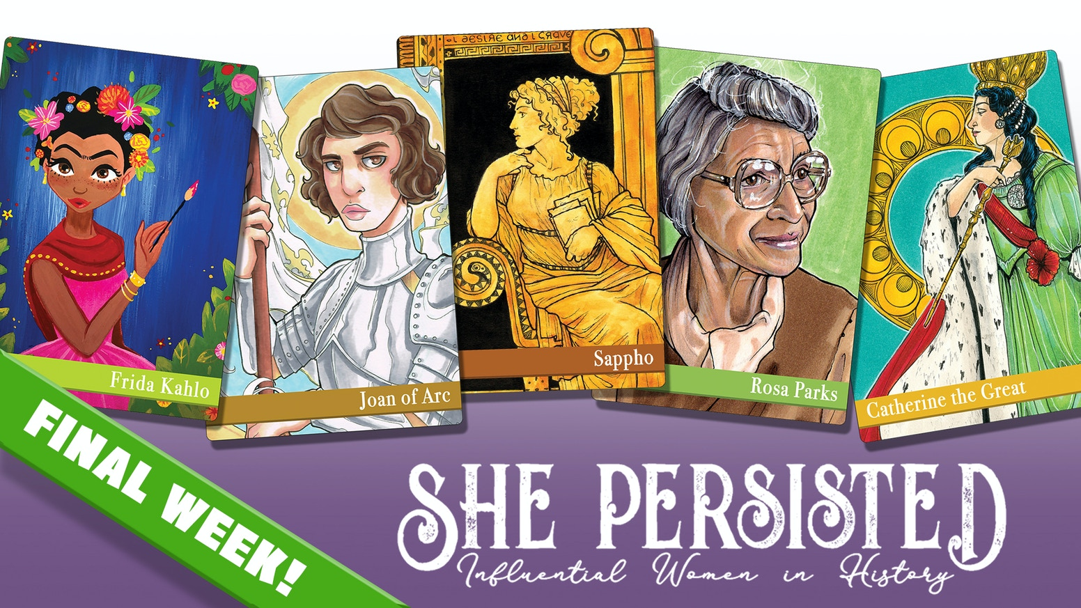FIFTY of the most influential women in history featured on Flashcards, Prints, a Coloring Book and more!