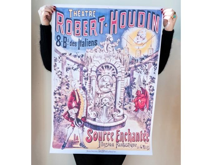 """original poster """"la source enchantée"""" drawn by Méliès"""