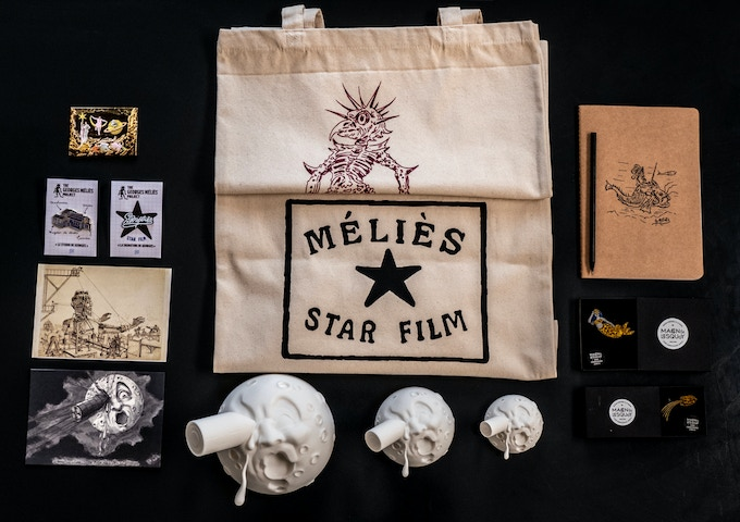 Almost all the rewards are here (except the 3 posters, bronze casted moon, cellulose nitrate film & guided tour.)